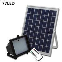 77LED Solar Spot Light With Remote Control Solar Flood Light Outdoor Wall Lighting for Garden Solar