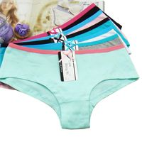Colorful undergarments wholesale women underwear cheap cotton panties