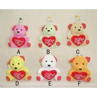 Valentine plush teddy bear thumbnail image