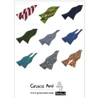 New Arrival 100% Silk Cheap Business Self Tie Bow Tie From Grace Ant thumbnail image