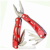 Multi tools Functional pliers aluminum handle Read Oxide with polyester sheath camlping