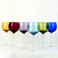 Handmade Colored wine glass set cocktail red wine bubble glass