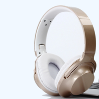Metallic design high-end retractable soft earmuff stereo headphone thumbnail image
