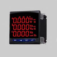 High accuracy 3P3W LED multi-function measuring analyzer RS485 MODBUS-RTU DI DO AO with CE thumbnail image