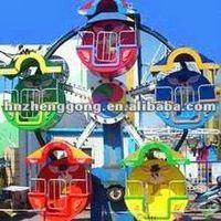 kids amusement equipment 6 arms mini ferris wheel