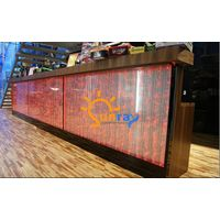 Contemporary 407165106cm LED bubble feature bar counter reception counter for office store bar