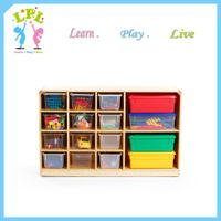 High quality preschool educational classroom furniture made in china wooden toy display cabinet for