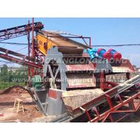 Dry sand directly from wet processing, small capacity 15tph line with sand washer, feeder, recycling