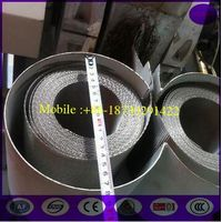 China 72x15mesh 127mm width,10mtr length Automatic Continous Belt Screen Filter Mesh with Fine filtr