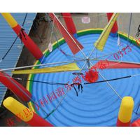 Inflatable Trampoline Round Shape Bungee Jumper Bounce Mat thumbnail image