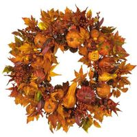 Thanksgiving day holiday wreath