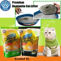 Premium quality Ecolief irregular bentonite clumping cat litter