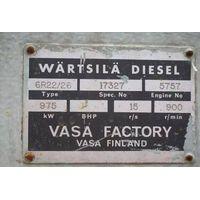 Marine diesel engine set WARTSILA 6R22/26