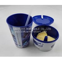 Wholesale new products 2015 innovative product BPA free tumbler with straw and snack cup