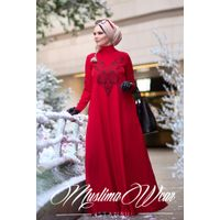 Muslima Wear Diadema Red Dress