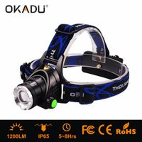 OKADU HT02 1200Lm Focusable LED Head Lamp 18650 / AA Battery Cap Lamp 1 Cree XM-L2 T6 LED Headlamp