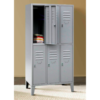 metal multi door lockers with feet