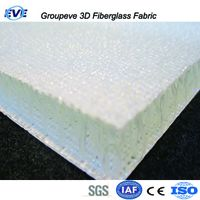 Two Deck Layers 3D Fiberglass Fabric Fibre Panel Sanwich