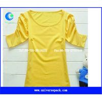 Slim  cotton spandex  three quarter sleeve  ladies t-shirt thumbnail image