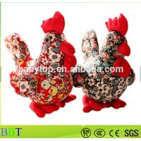 Custom China new year floral cloth chicken plush toy thumbnail image