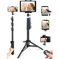 "Ipad Tripod Stand, 51"" Height Adjustable iPad Stand Holder & iPad Floor Stand with Rotating iPad Tri"