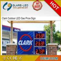 High brightness red color outdoor electronic gas station led price sign