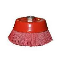 Abrasive nylon cup brush for deburring