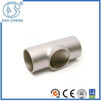 Professional Casting Pipe Fittings Stainless Steel Weld Equal Tee Fittings