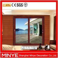China Manufacturer Aluminum Door Heavy Type Aluminum Sliding Door Wood Grain Transfer Finsh Sliding