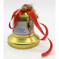 selll bell shape tin holder,christmas bell tin box,candy belll shape container