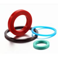 custom round flat silicone rubber gasket washers
