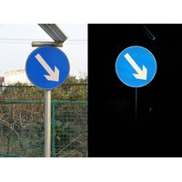 reflective road traffic signal use on A grade reflective film