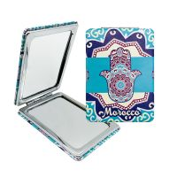 Leather Hand Pocket Mirror Folding Mirror Make-up Mirror for Gifts thumbnail image