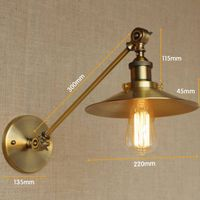 Vintage brass wall LED lamp