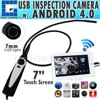 "C0598AM USB Handheld Endoscope 7mm Camera head w/ 7"" Android Monitor"