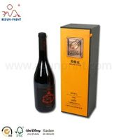 Manufacture Rigid Cardboard 750Ml Bottle Wine Storage packaging gift Box