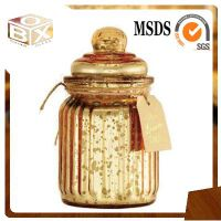 Glass jar with lid scented funny candles