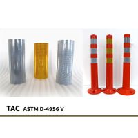 Reflective Tape Delineatore, Spring Post reflective amterials for road safety devices