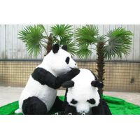 life size realistic animatronic panda model for park
