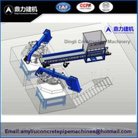 Vertical Vibration Casting Concrete Pipe Making Machine