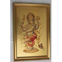 india gods gold foil painting&size:21*30cm thumbnail image