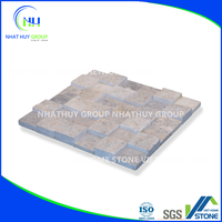 Square Mosaic Title from Natural Stone