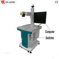 metal sign fiber laser marking machine / laser marking machine price from factory thumbnail image