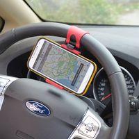 Car Steering Wheel Phone Holder/Smart Mobile Phone Car Holder/ Car Mount Holder thumbnail image
