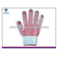 Rubber dotted gloves