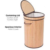 New Design Vietnam Bamboo Storage Basket for Laundry Rattan Seagrass Basket thumbnail image