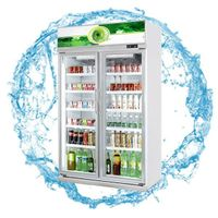 Blue Ocean glass door refrigerator /Beverage display freezer fan cooling automatic defrost with slid thumbnail image