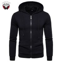 Simple Design Custom High Quality Men Zipper Hoodie for men's with Pockets 100% cotton thumbnail image