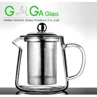 HOT SALES hand made heat resistant borosilicate exotic glass teapot glass tea set glass pot