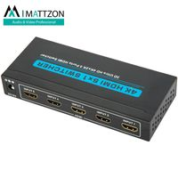 Mattzon 4k 5 ports 5x1 Hdmi Switcher splitter support 4k@30Hz,HDCP1.4, HDR,3D, PRIVATIE MOLD, thumbnail image